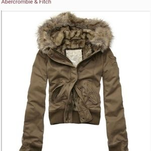 Abercrombie and Fitch bomber jacket fur lined